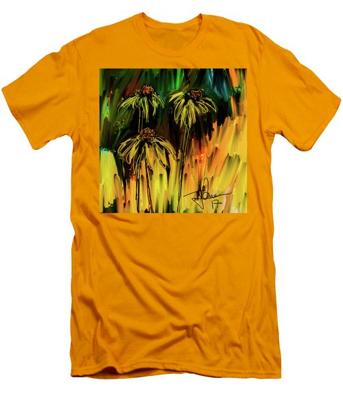 Men's T-Shirt (Athletic Fit) featuring the digital art Garden Flowers by Jim Vance