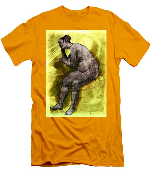 Nude Woman Men's T-Shirt (Slim Fit) by Svelby Art