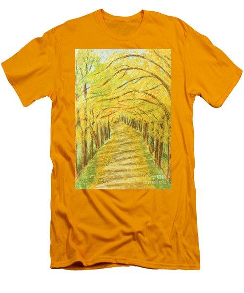 Autumn Landscape, Painting Men's T-Shirt (Athletic Fit)