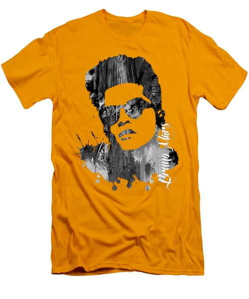 Bruno Mars Collection Men's T-Shirt (Slim Fit) by Marvin Blaine