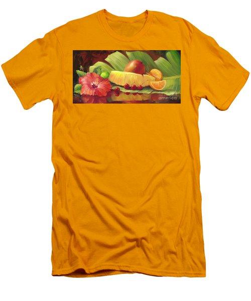 4 Cherries Men's T-Shirt (Slim Fit) by Laurie Hein