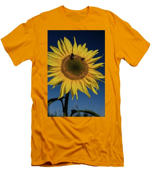 Sunflower Fields Men's T-Shirt (Slim Fit) by Miguel Winterpacht