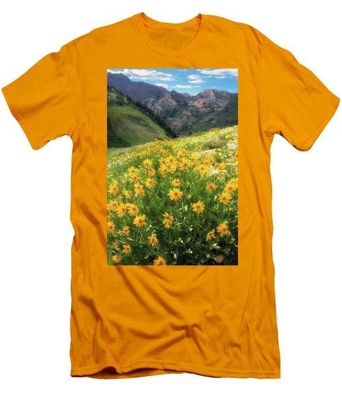 Albion Basin Wildflowers Men's T-Shirt (Slim Fit) by Utah Images