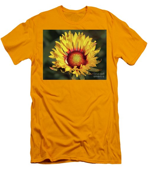 Men's T-Shirt (Slim Fit) featuring the photograph Summer Flower by Elvira Ladocki