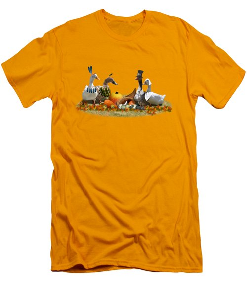 Thanksgiving Ducks Men's T-Shirt (Slim Fit) by Gravityx9  Designs