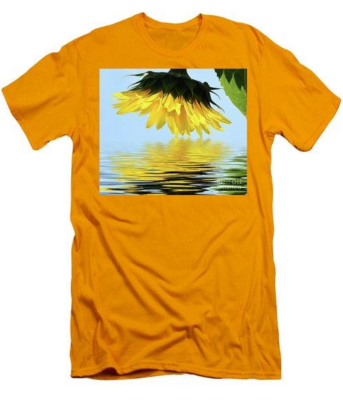 Nice Sunflower Men's T-Shirt (Slim Fit) by Elvira Ladocki