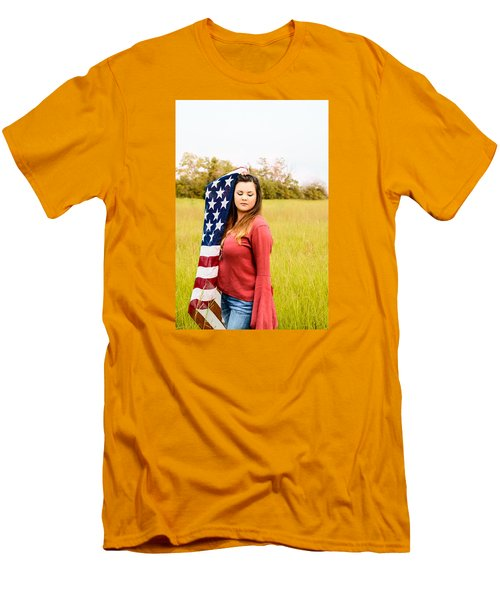 Men's T-Shirt (Slim Fit) featuring the photograph 5626 by Teresa Blanton