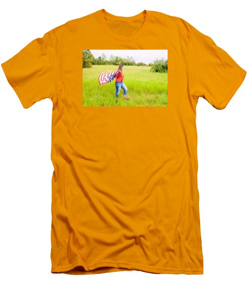 Men's T-Shirt (Slim Fit) featuring the photograph 5640 by Teresa Blanton