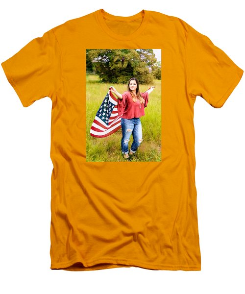 Men's T-Shirt (Slim Fit) featuring the photograph 5649 by Teresa Blanton