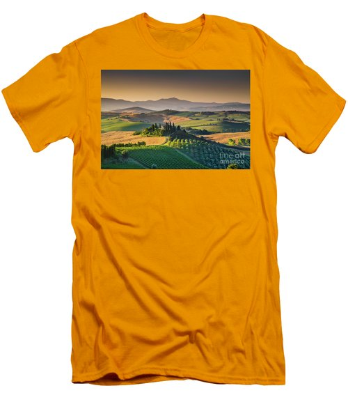 A Morning In Tuscany Men's T-Shirt (Slim Fit) by JR Photography
