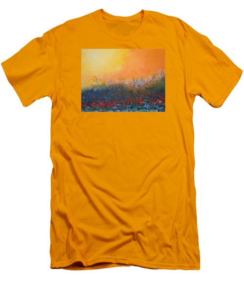 A Field In Bloom Men's T-Shirt (Slim Fit) by Dan Whittemore