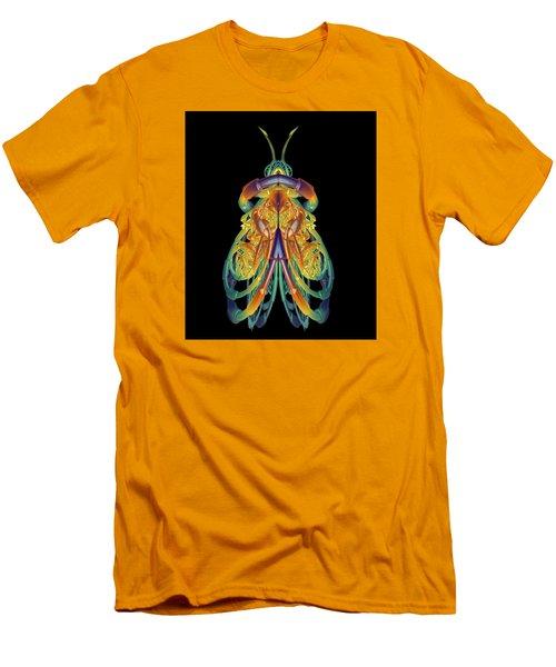 A Fractal Bug Men's T-Shirt (Slim Fit) by Mario Carini