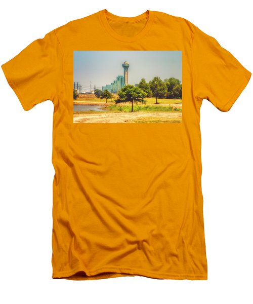 Men's T-Shirt (Slim Fit) featuring the photograph A Quiet View by Joan Bertucci