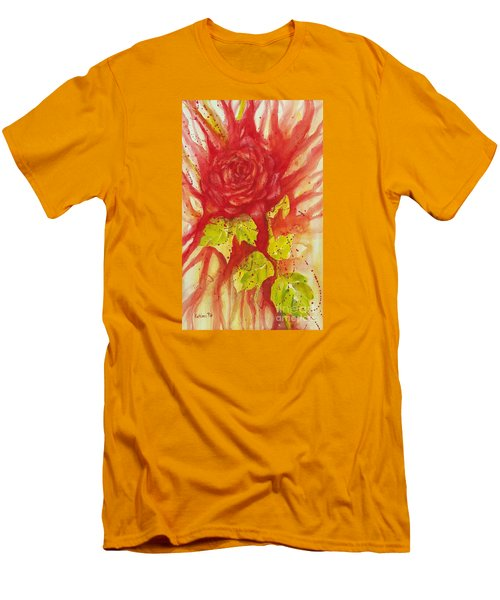 A Wounded Rose Men's T-Shirt (Slim Fit) by Kathleen Pio