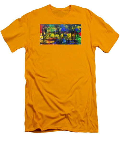 Abstract # 2  Men's T-Shirt (Slim Fit) by Rich Franco
