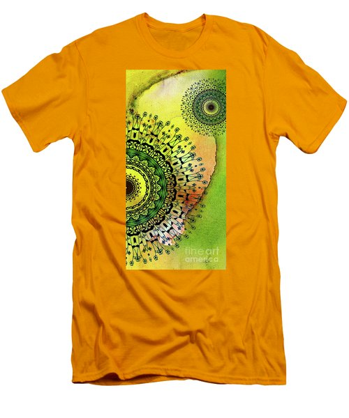 Abstract Acrylic Art The Garden Men's T-Shirt (Slim Fit) by Saribelle Rodriguez