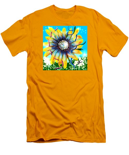 Men's T-Shirt (Athletic Fit) featuring the digital art Abstract Flower by Darren Cannell