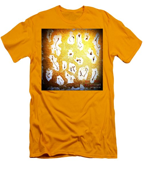 Bling Abstract Gold 1 Men's T-Shirt (Slim Fit) by Richard W Linford