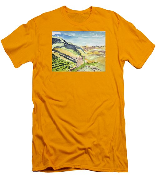Abstract Hillside Men's T-Shirt (Athletic Fit)
