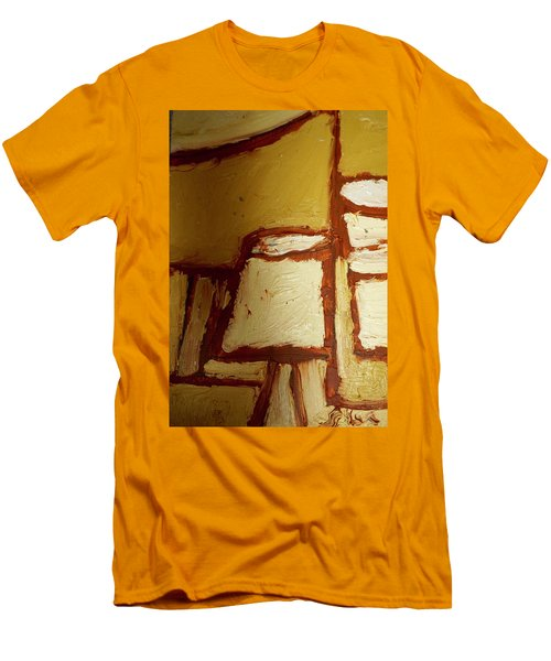 Men's T-Shirt (Slim Fit) featuring the painting Abstract Lamp Number 4 by Shea Holliman