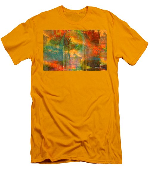 Abstract The World As It Is  Men's T-Shirt (Slim Fit) by Sherri's Of Palm Springs