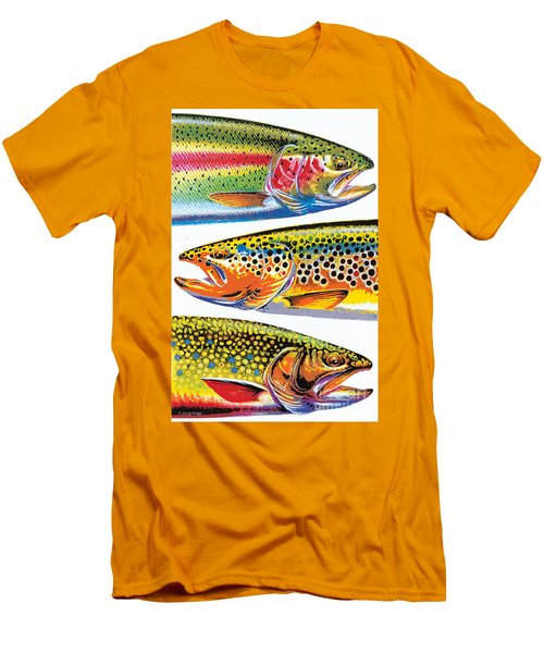 Abstract Trout Men's T-Shirt (Slim Fit) by JQ Licensing Jon Q Wright