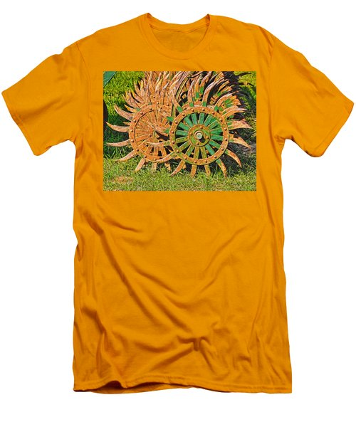 Men's T-Shirt (Slim Fit) featuring the photograph Ag Machinery Starburst by Trey Foerster