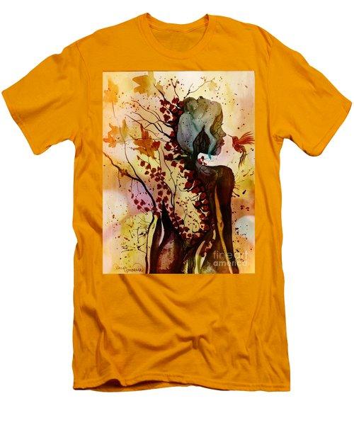 Alex In Wonderland Men's T-Shirt (Slim Fit) by Denise Tomasura