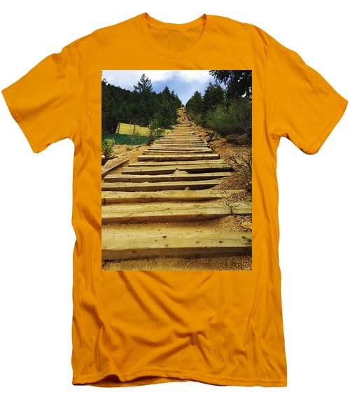 Men's T-Shirt (Slim Fit) featuring the photograph All The Way Up by Christin Brodie