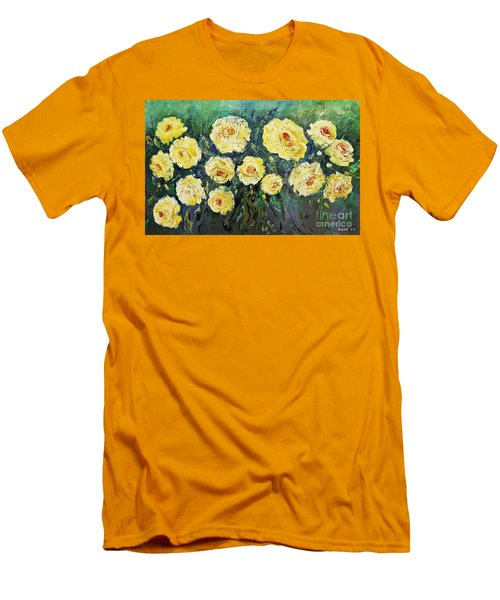 All Yellow Roses Men's T-Shirt (Athletic Fit)