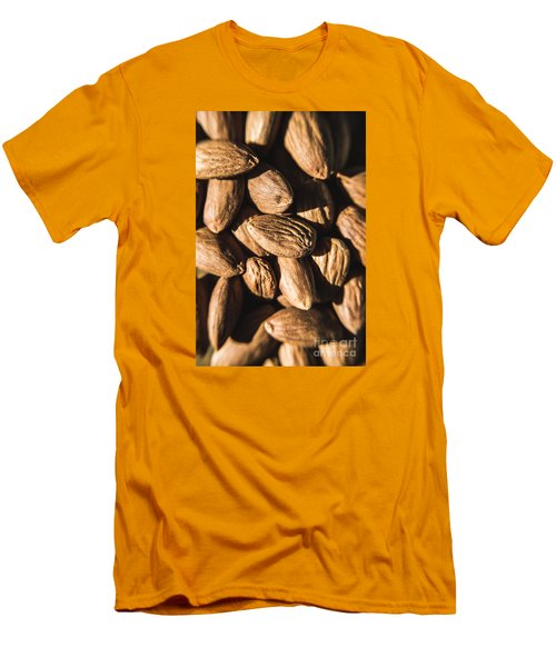 Men's T-Shirt (Athletic Fit) featuring the photograph Almond Nuts by Jorgo Photography - Wall Art Gallery