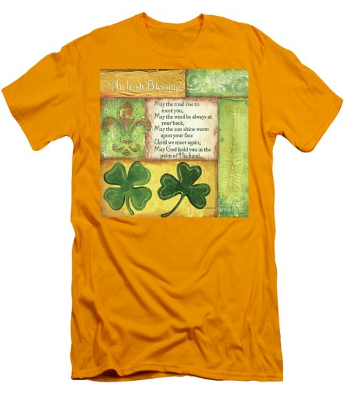 Men's T-Shirt (Slim Fit) featuring the painting An Irish Blessing by Debbie DeWitt
