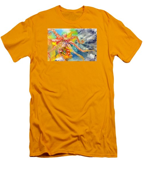 An Octopus Lunch Inspired This Painting Of An Octopus  Men's T-Shirt (Athletic Fit)