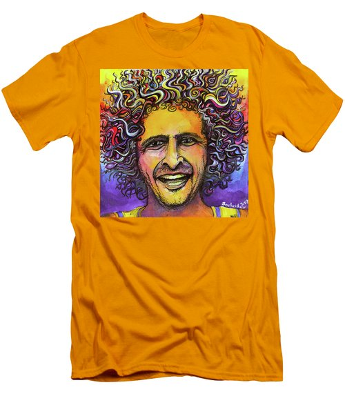 Men's T-Shirt (Slim Fit) featuring the painting Andy Frasco by David Sockrider