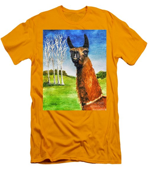 Men's T-Shirt (Slim Fit) featuring the painting Archimedes by Polly Peacock