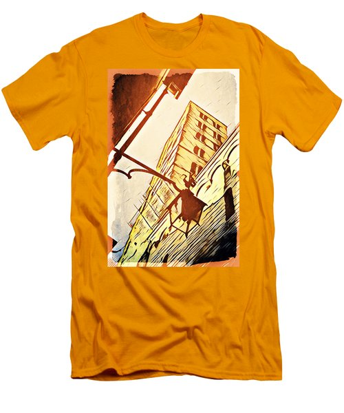 Arezzo's Tower Men's T-Shirt (Slim Fit) by Andrea Barbieri