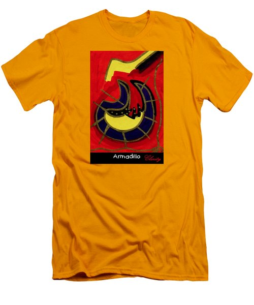 Men's T-Shirt (Slim Fit) featuring the painting Armadillo by Clarity Artists