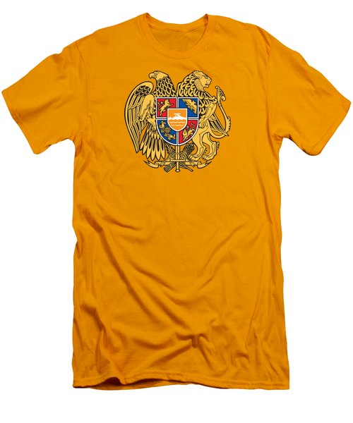 Armenia Coat Of Arms Men's T-Shirt (Slim Fit) by Movie Poster Prints
