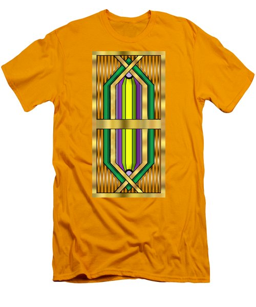 Men's T-Shirt (Slim Fit) featuring the digital art Art Deco 14 Vertical - Chuck Staley by Chuck Staley