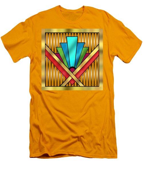 Art Deco 15 Transparent Men's T-Shirt (Slim Fit) by Chuck Staley