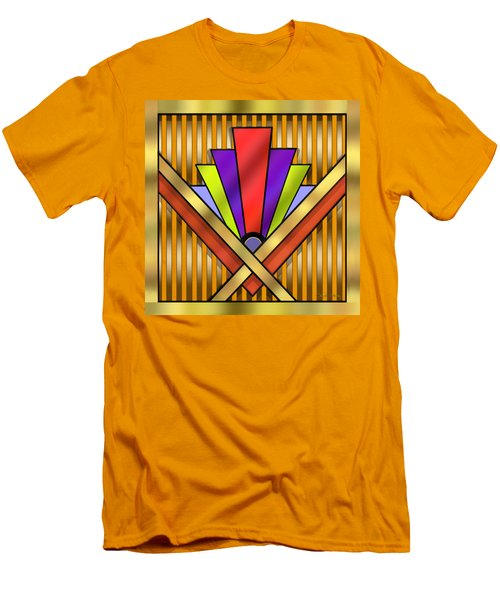 Art Deco 16 Transparent Men's T-Shirt (Slim Fit) by Chuck Staley
