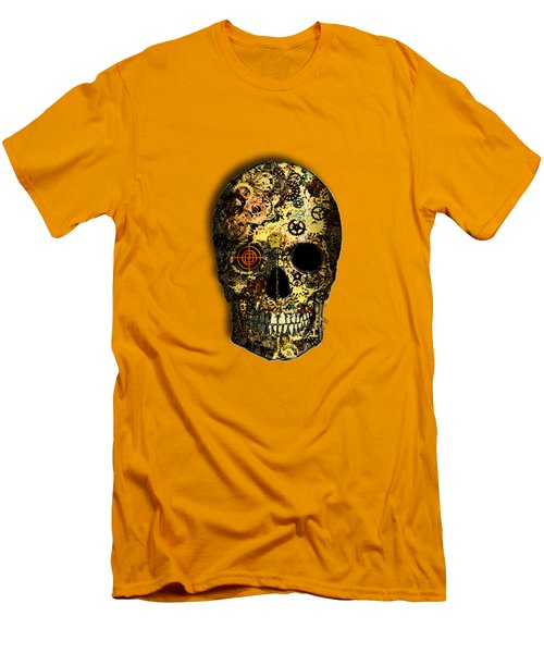 Men's T-Shirt (Slim Fit) featuring the digital art Skullgear by Iowan Stone-Flowers