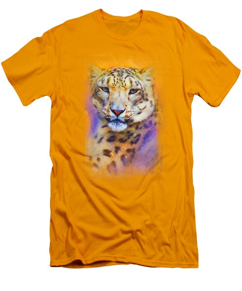 Colorful Expressions Snow Leopard Men's T-Shirt (Athletic Fit)
