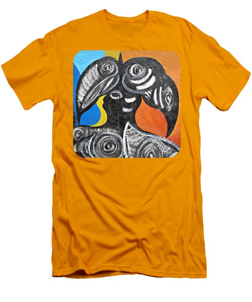 Two Toucans Men's T-Shirt (Slim Fit) by Ethna Gillespie