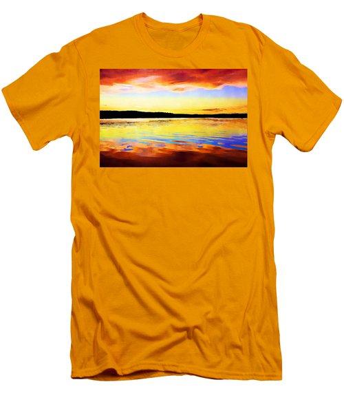 As Above So Below - Digital Paint Men's T-Shirt (Athletic Fit)