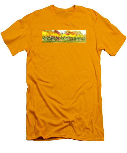 Aspen Trees In Autumn Men's T-Shirt (Athletic Fit)