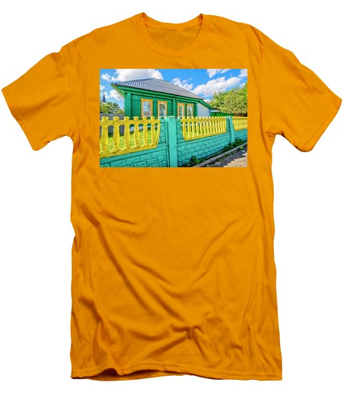 At Home In Belarus Men's T-Shirt (Athletic Fit)