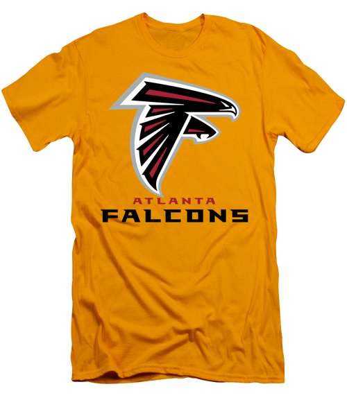Atlanta Falcons On An Abraded Steel Texture Men's T-Shirt (Athletic Fit)