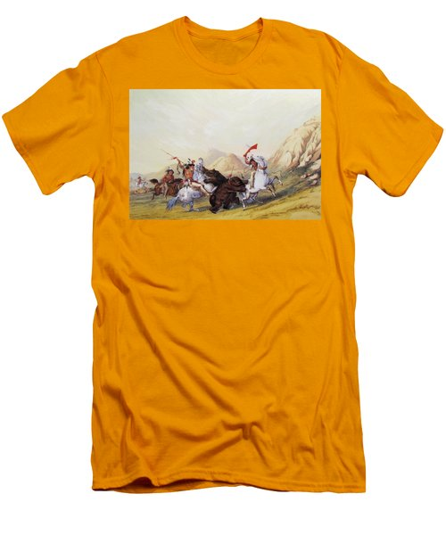 Attacking The Grizzly Bear 1844 Men's T-Shirt (Athletic Fit)