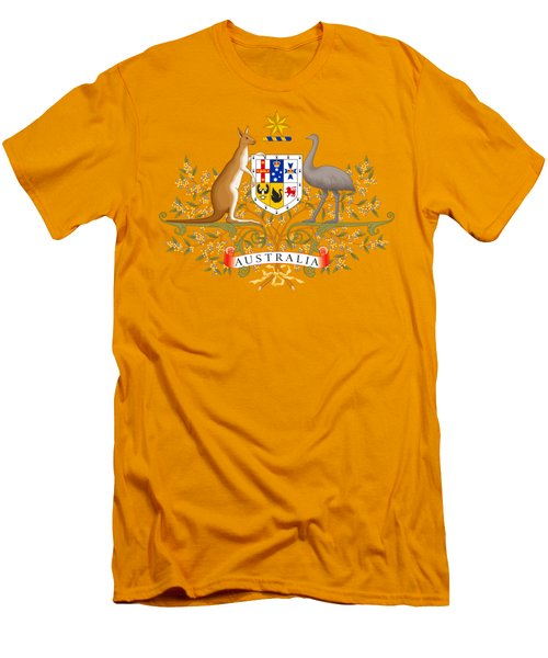 Australia Coat Of Arms Men's T-Shirt (Slim Fit) by Movie Poster Prints